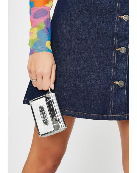Duster Silver Retro Cassette Wallet