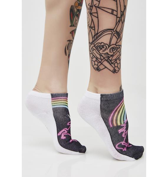 Unicorn Life Glow-In-The-Dark Socks