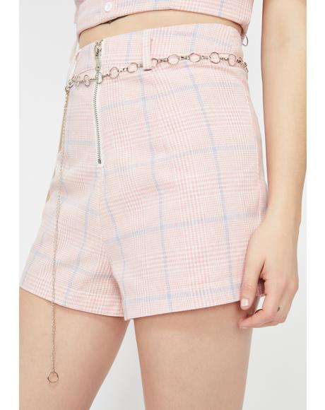 Blushin' Beauty Plaid Shorts