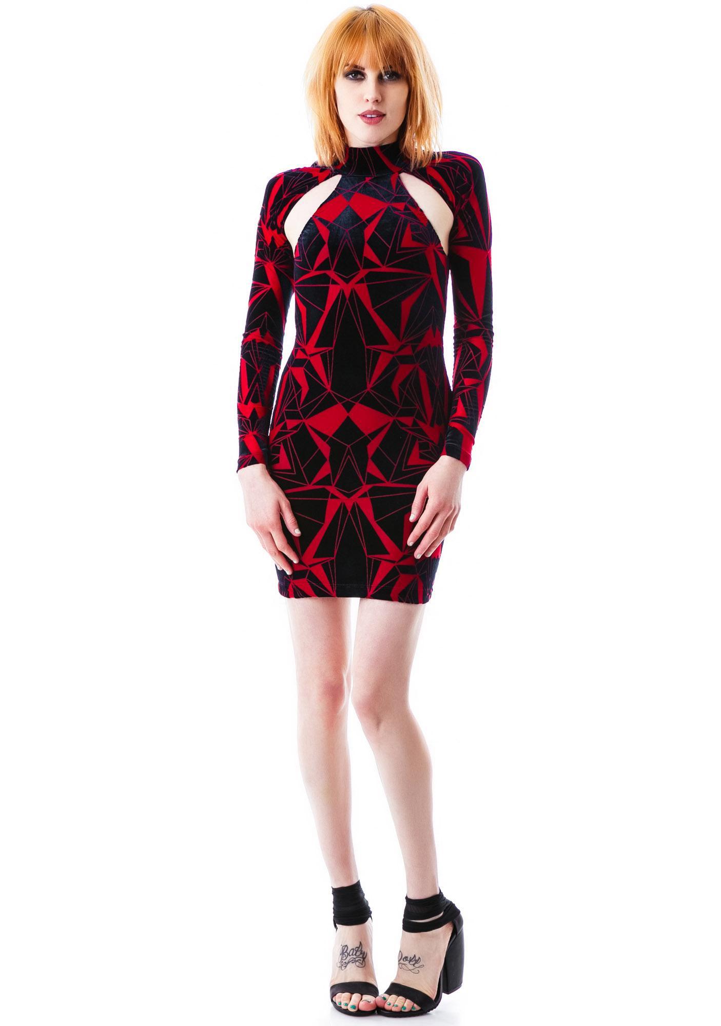 Lip Service Burnout Velvet Dress