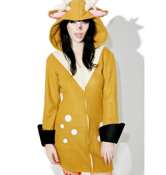Doe Eyed Hooded Dress