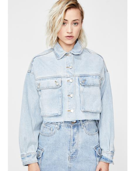 Just Chillin' Denim Jacket