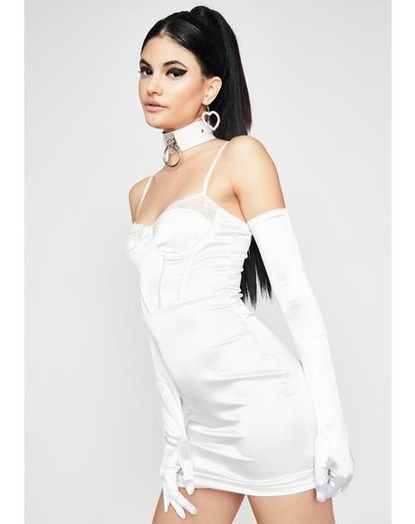 Pearl Last Lover Satin Bodycon Dress