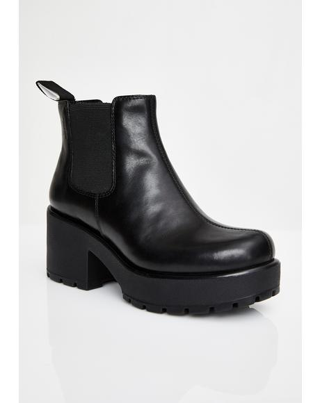 Dioon Leather Booties
