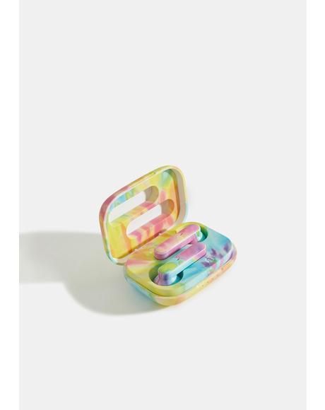 Wireless Bluetooth Pastel Tie Dye Earbuds