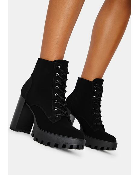Bad Is Better Lace Up Booties