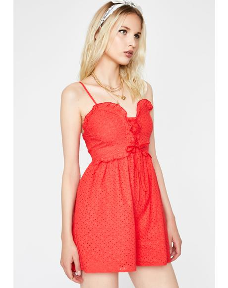 Totally Sprung Lace Up Romper