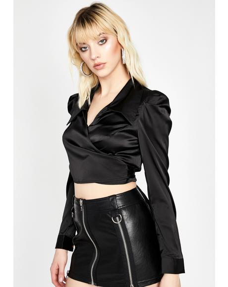 Blackout Tempered Lux Satin Shirt