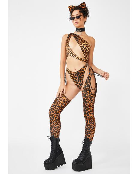 Kitty Prism Moonwalk Cut-Out Catsuit
