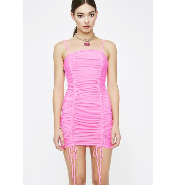 Sweet Toxicity Ruched Dress