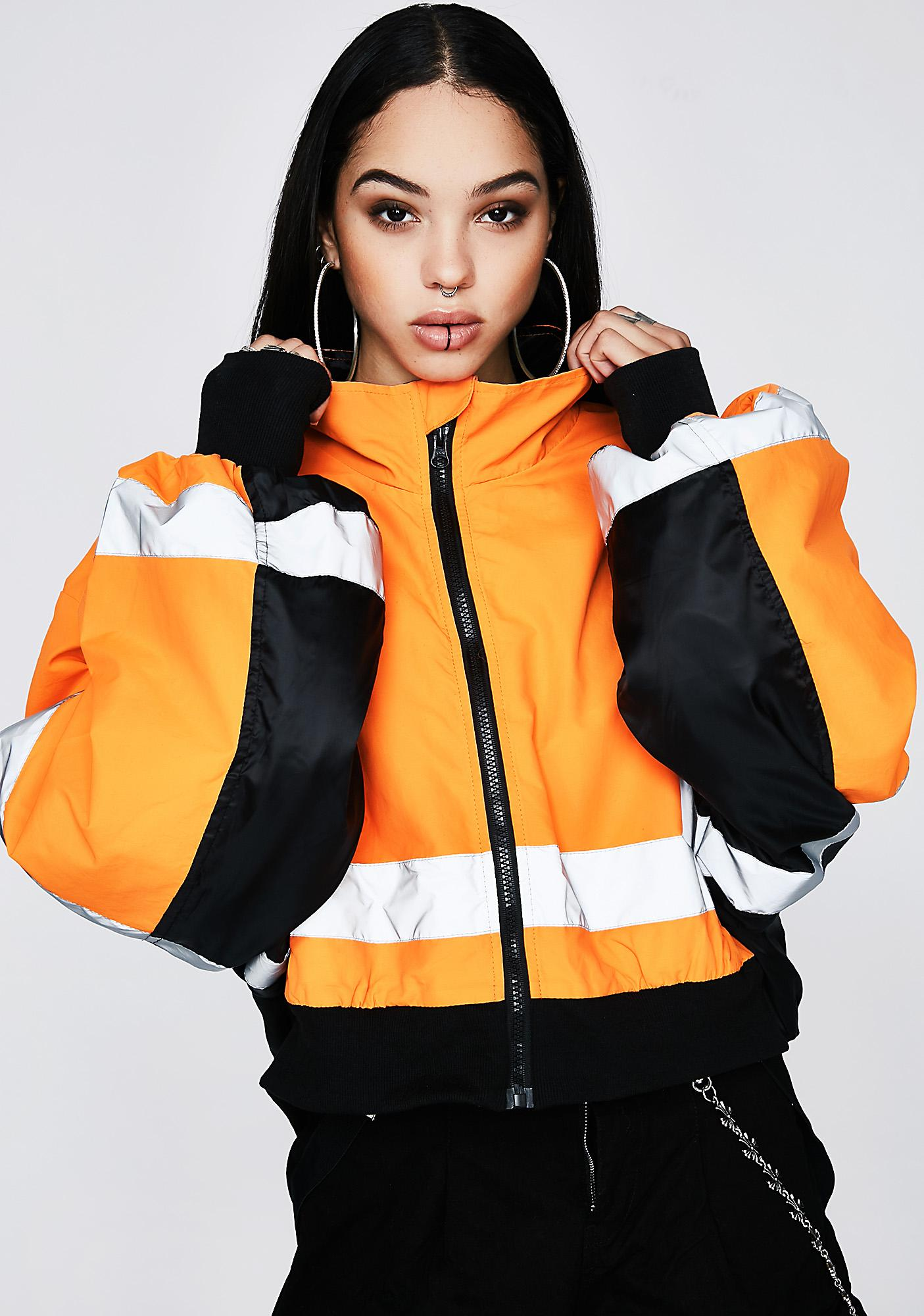 Poster Grl All Eyes On Me Cropped Jacket