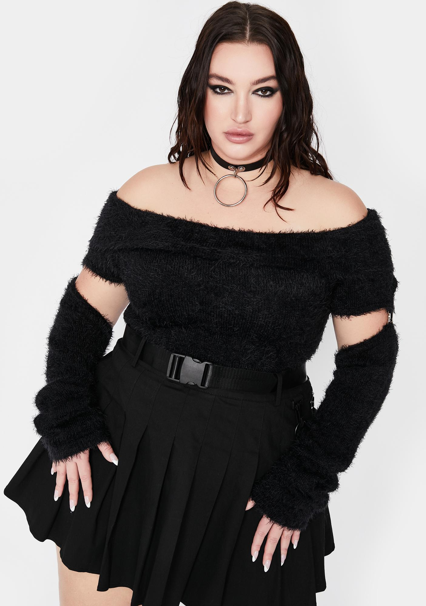 Current Mood Truly Off Limits Cut Out Sweater