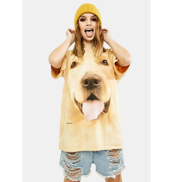 The Mountain Big Face Golden Graphic Tee
