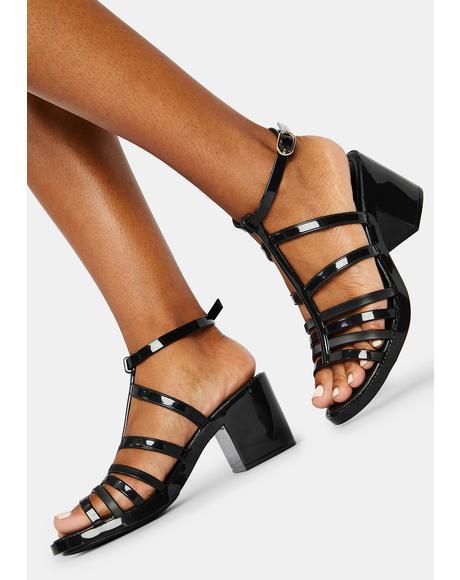 Noir Dallas Jelly Sandals