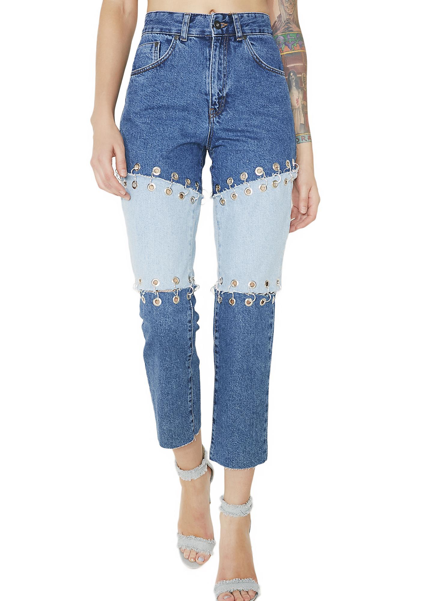 The Ragged Priest Split Jeans