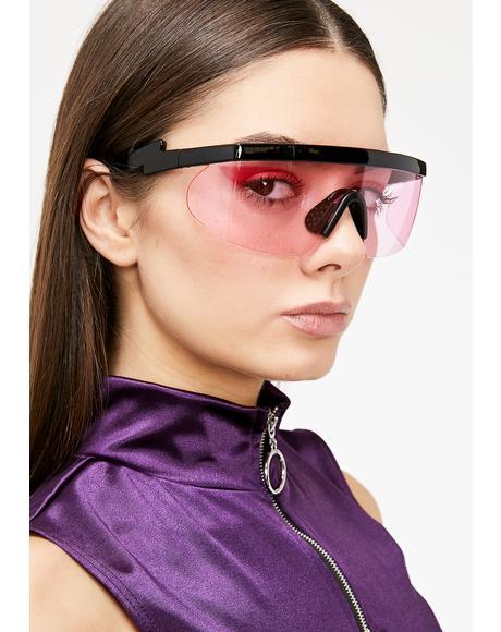 Miss God Of Thunder Shield Sunglasses