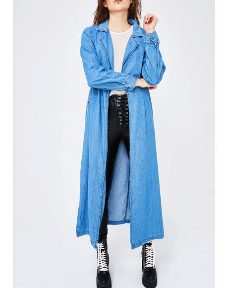 All Talk Denim Trench