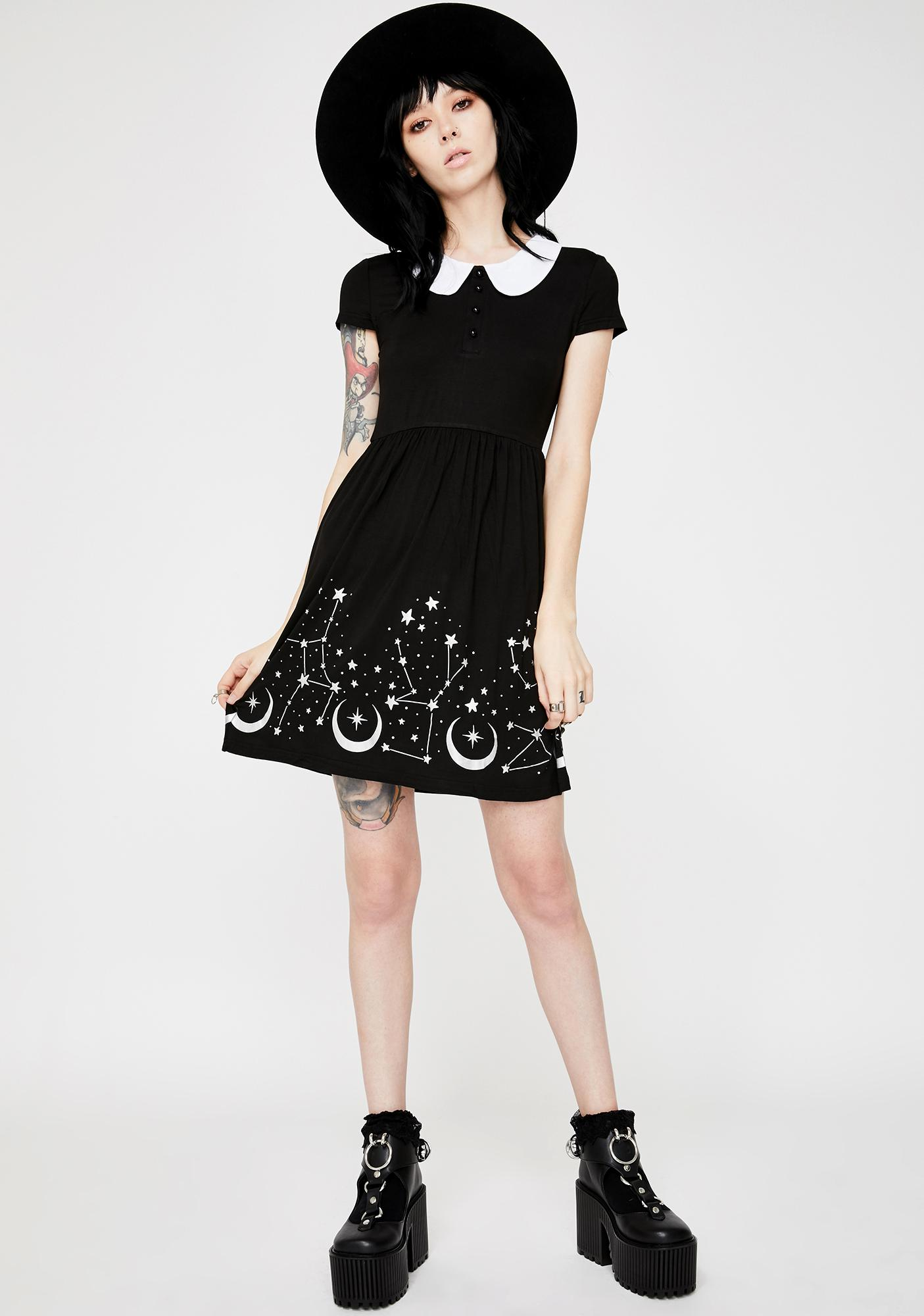 Killstar Moonscape Skater Dress