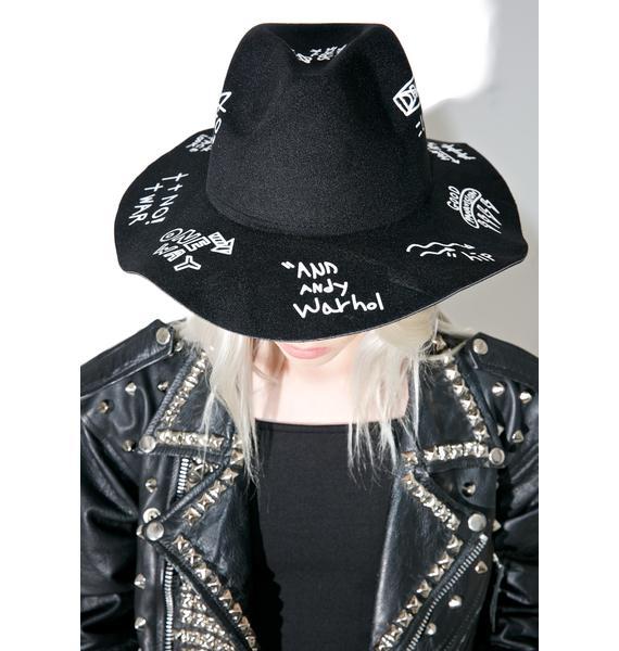 Tagged Up Wide Brim Hat