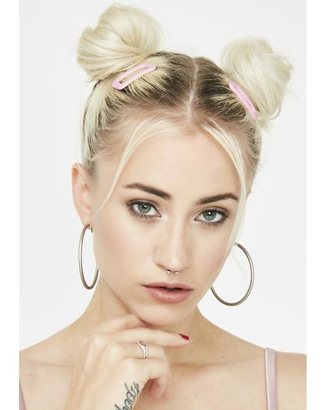 Selfie Scandal Hoop Earrings