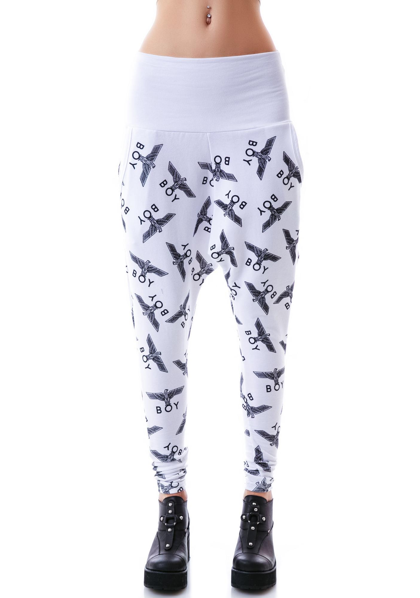 BOY London Allover Eagle BOY Harem Pants