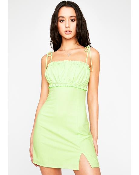 Lime Playing For Keeps Mini Dress