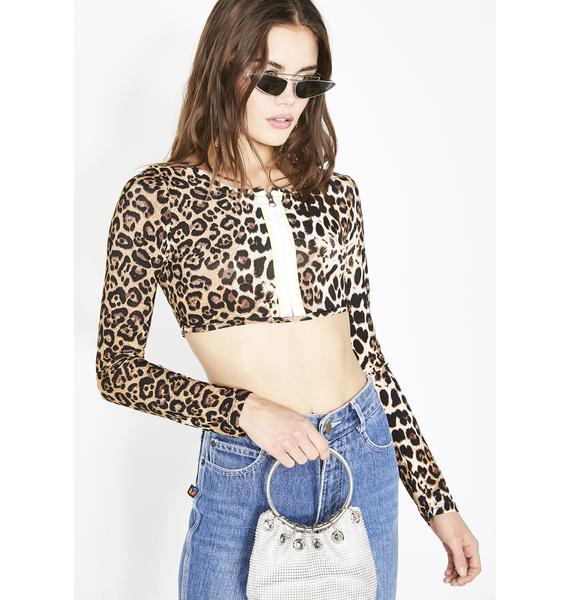Catty Attitude Leopard Top