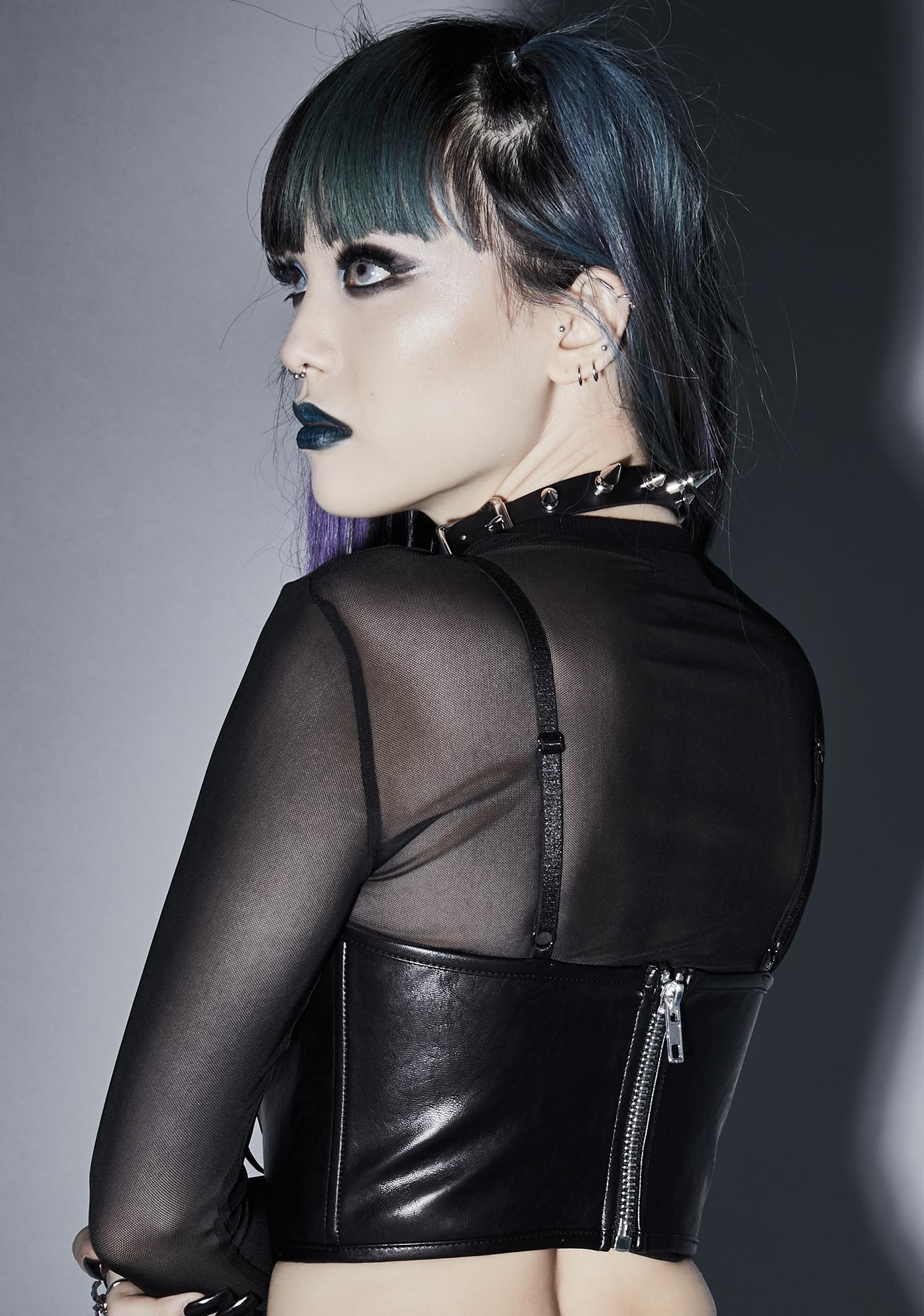 Widow Dead Of Night Underboob Corset
