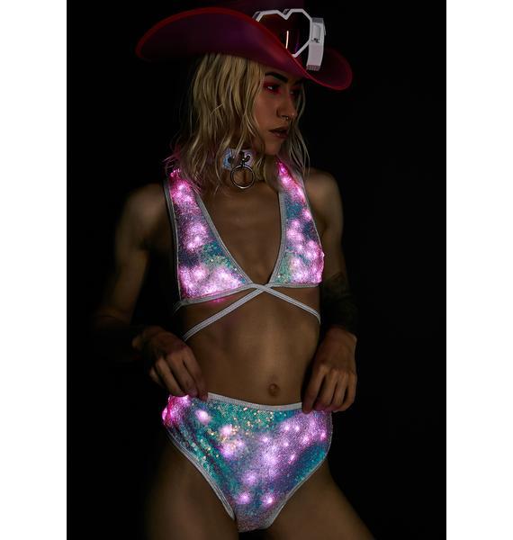 J Valentine Cosmic Ice Light Up Sequin Bottoms