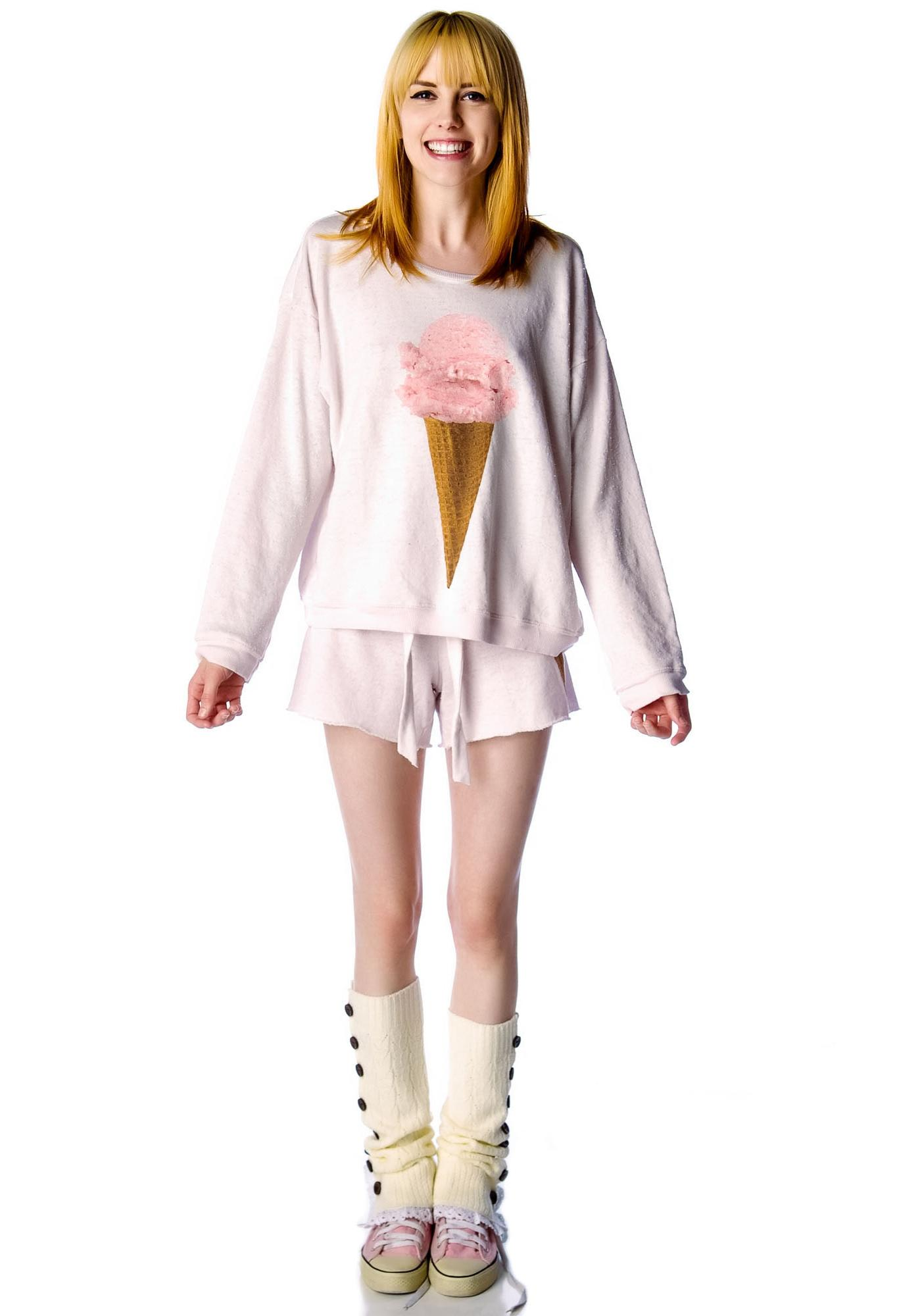 Wildfox Couture Breakfast Oversized Sweatshirt