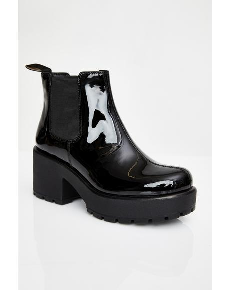 Dioon Patent Leather Boots