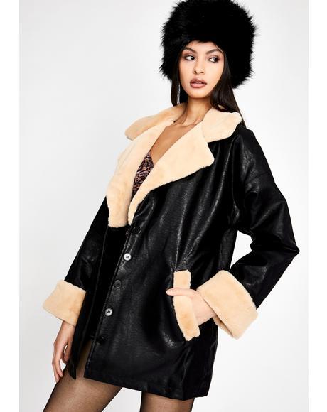 Modern Woman Shearling Coat