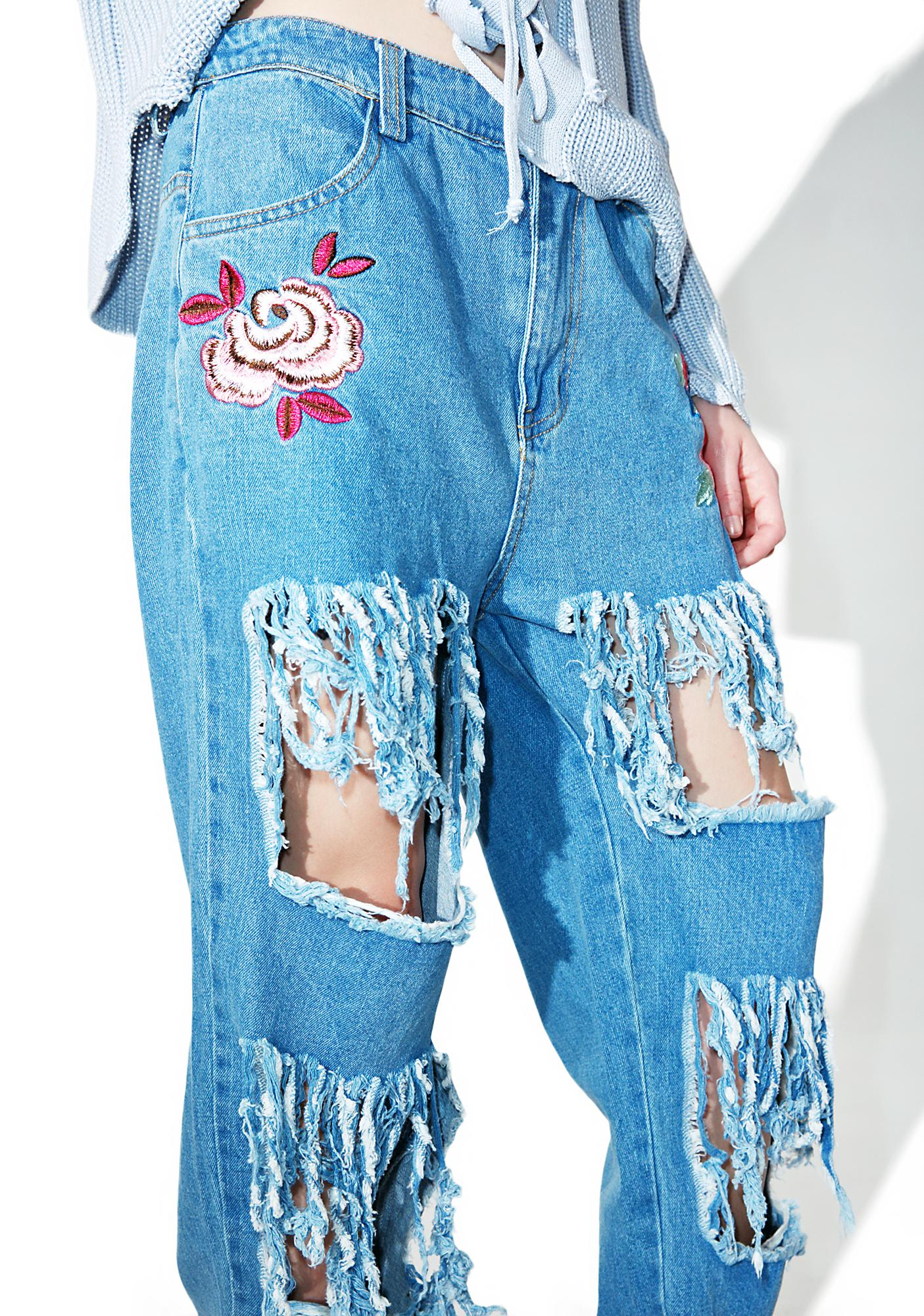 Encore Distressed Denim Jeans