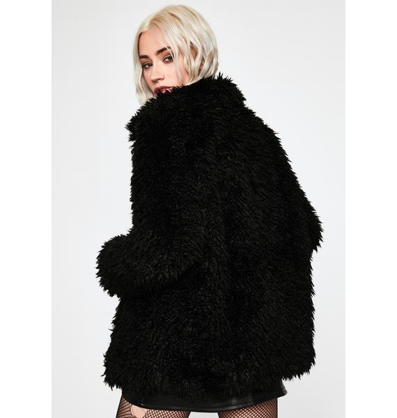 Crew Luv Fuzzy Coat