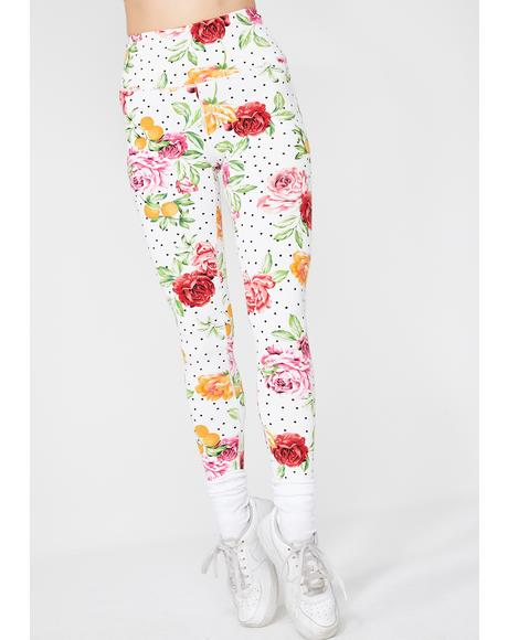 Summertime Fine Floral Leggings
