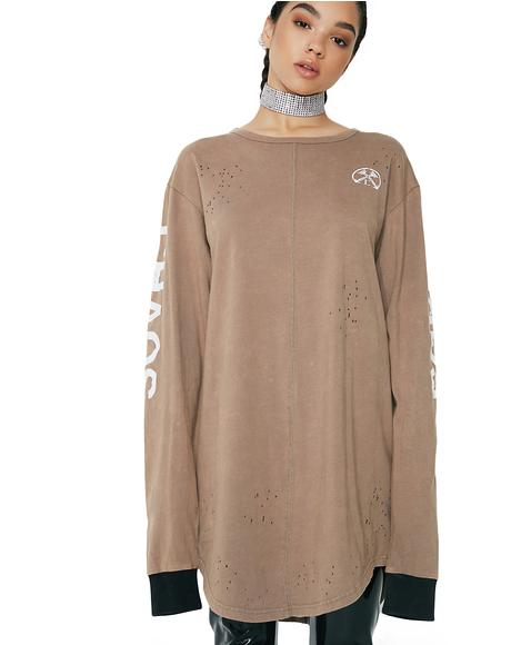 Chaos Oiled Long Sleeve Tee