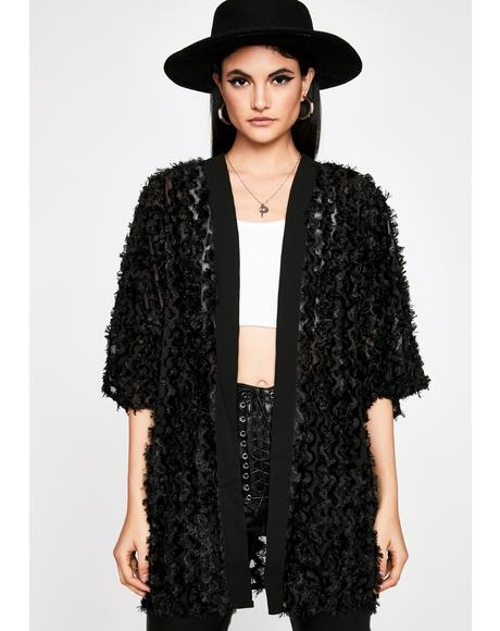 Dark Mood Sheer Kimono