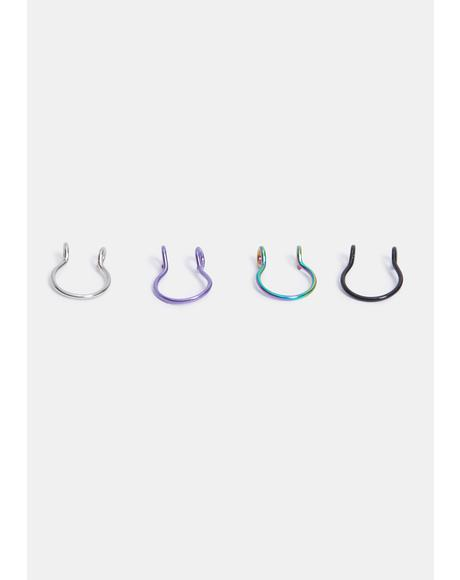 Now You Nose Faux Nose Ring Set