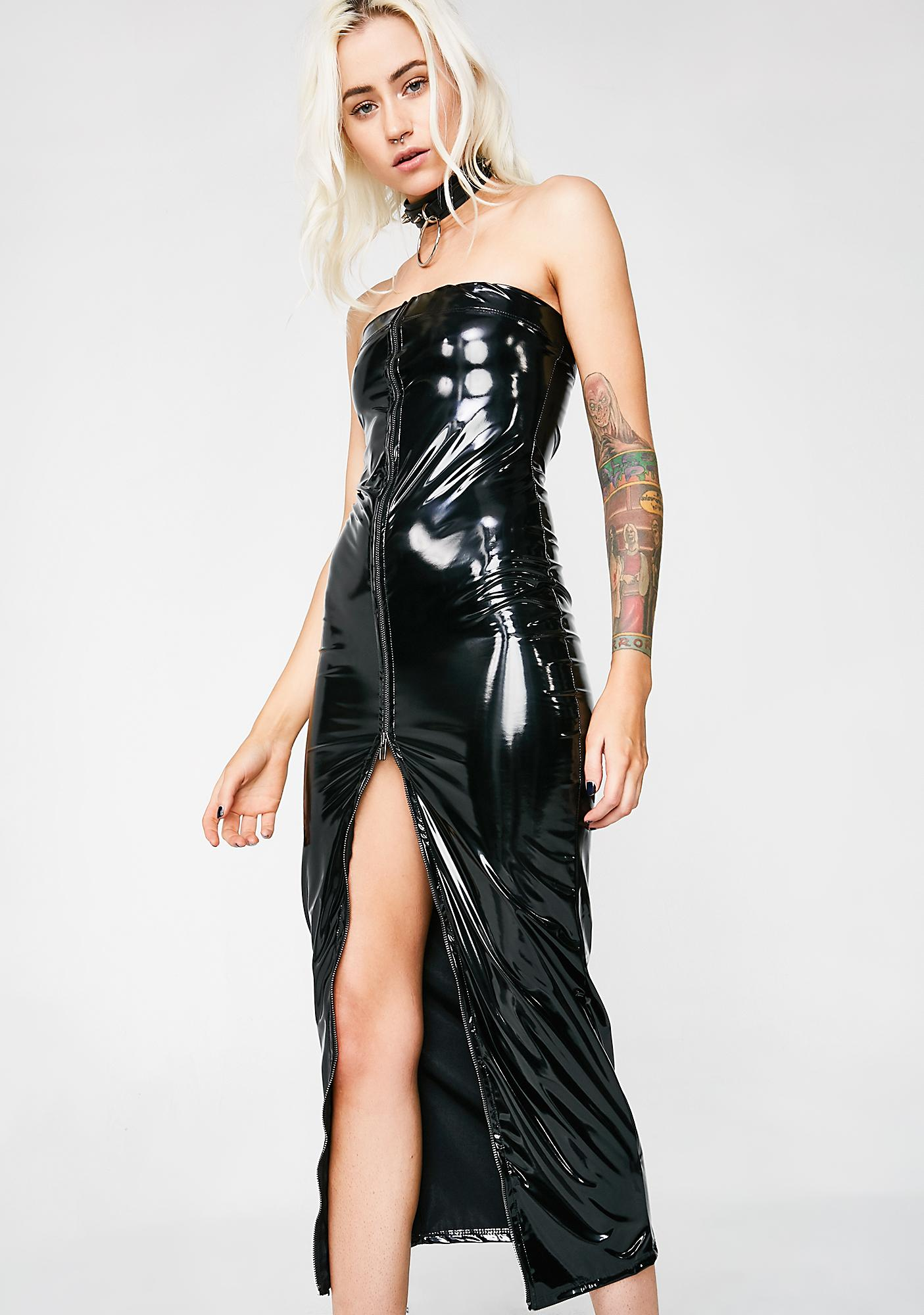 Be Your Girl Vinyl Dress