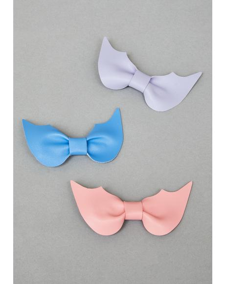 Bubblegum Hellscape Bow Hair Clips
