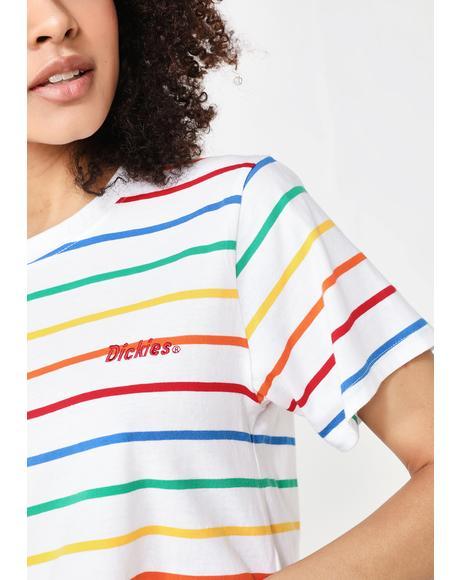 Rainbow Stripe Tomboy Tee