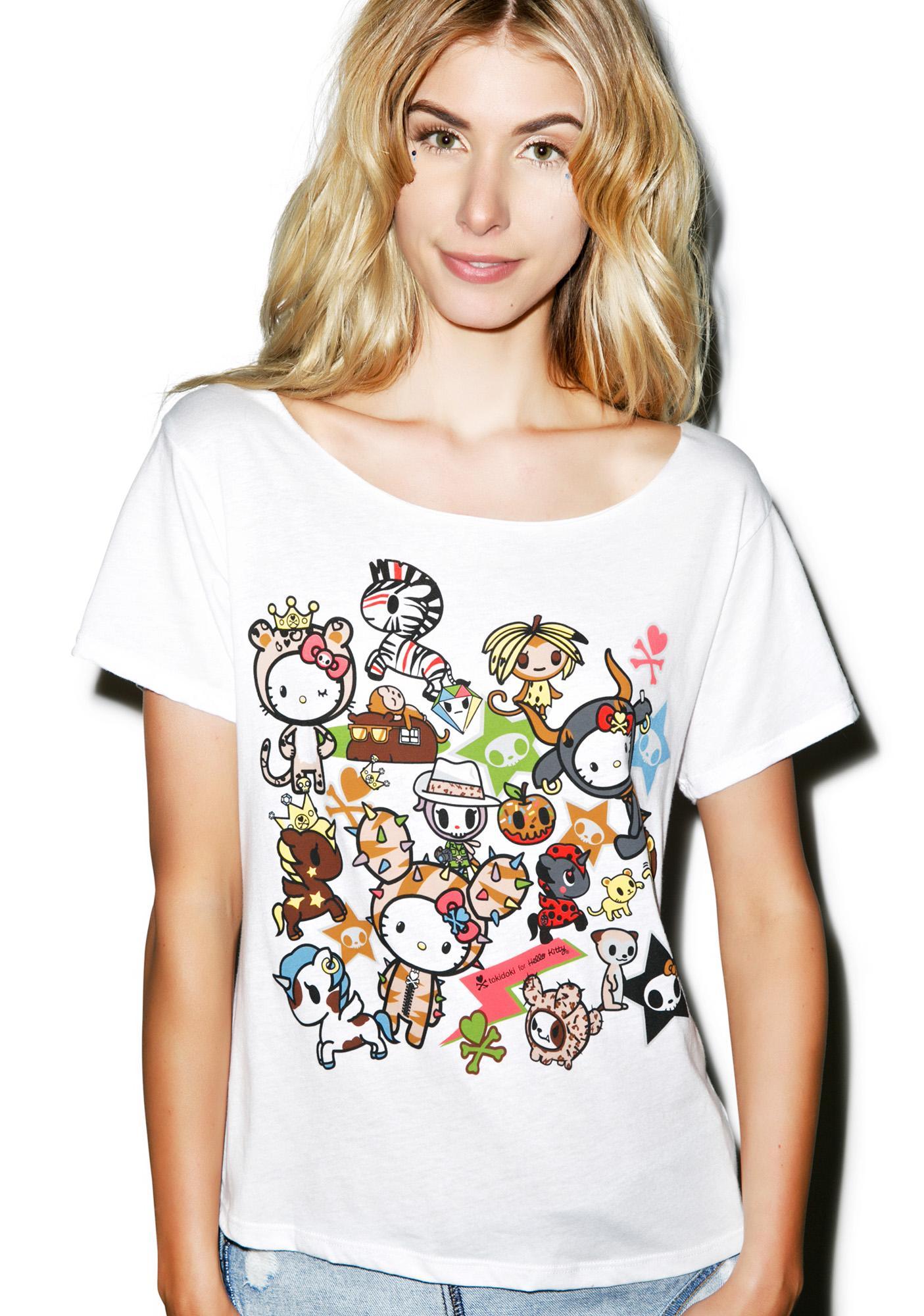 Sanrio Tokidoki X Hello Kitty Safari Off Shoulder Top