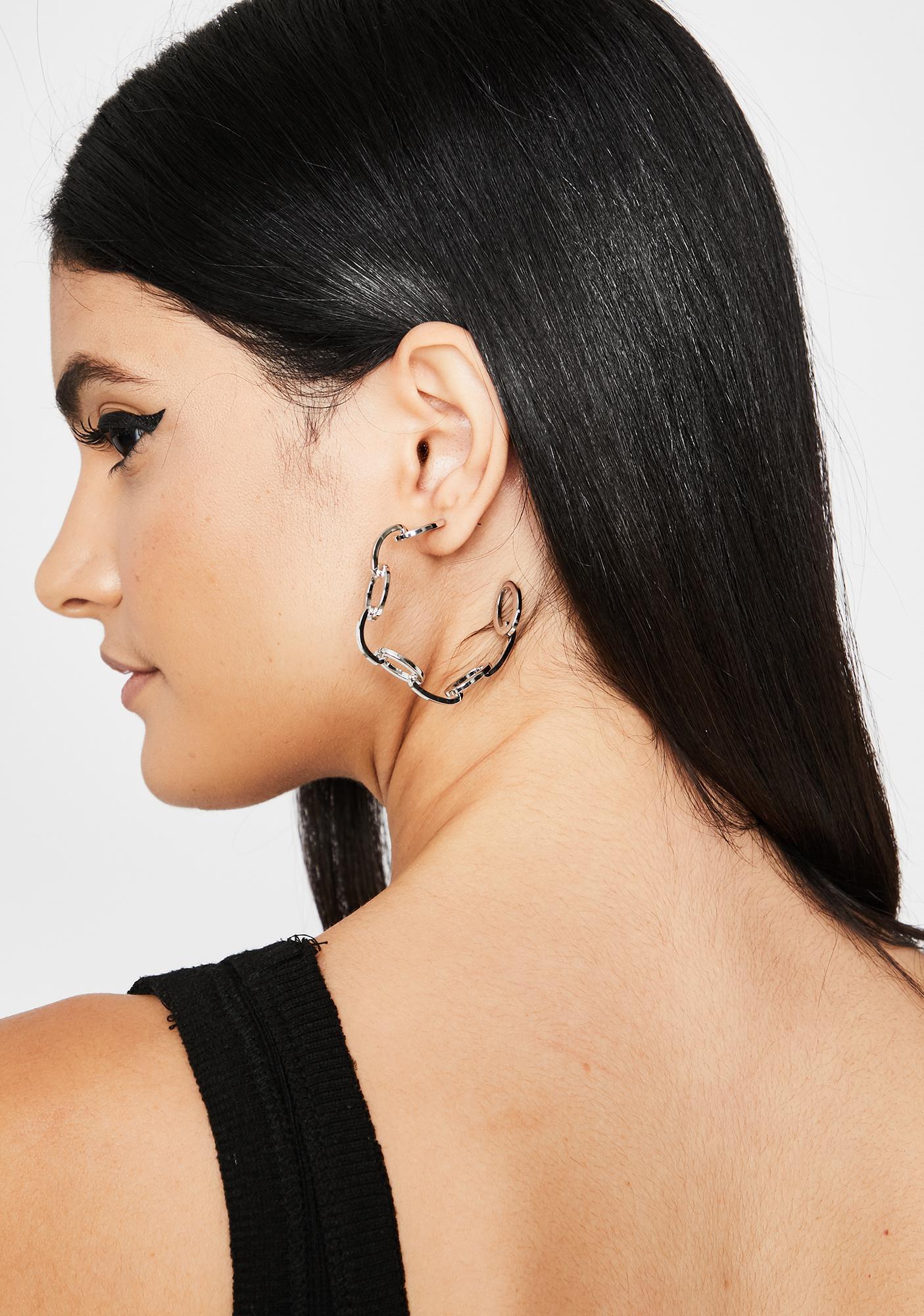 Hellbent Over U Hoop Earrings