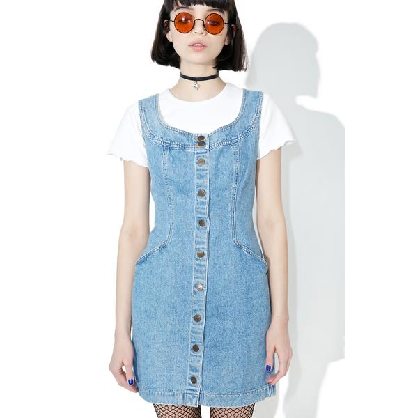 Vintage 90s DKNY Denim Mini Dress