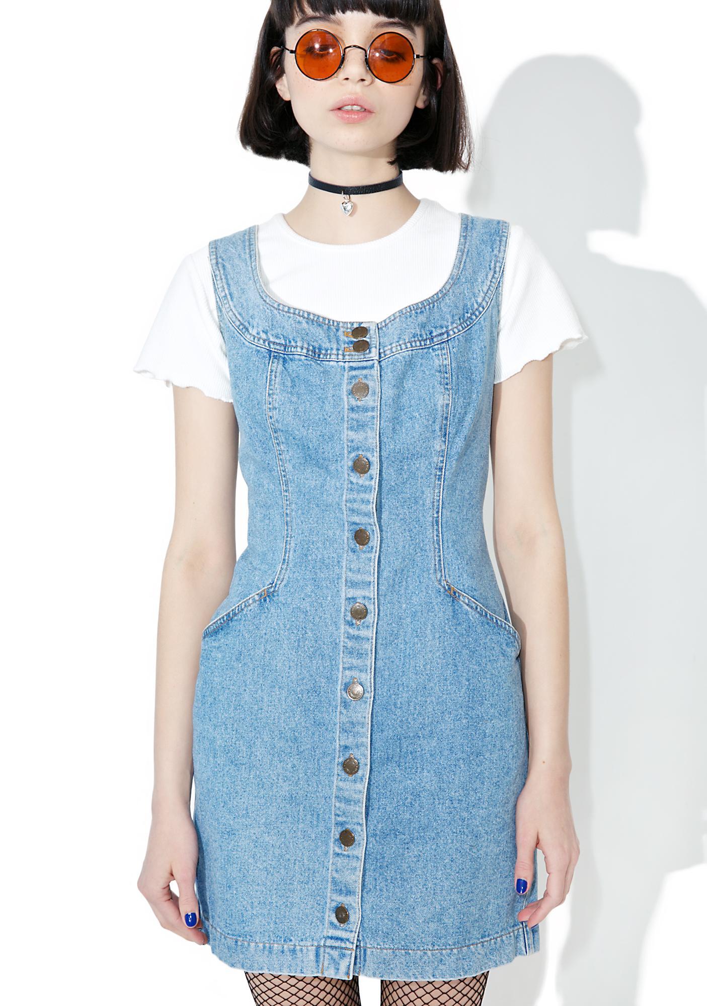 Vintage 90s Dkny Denim Mini Dress