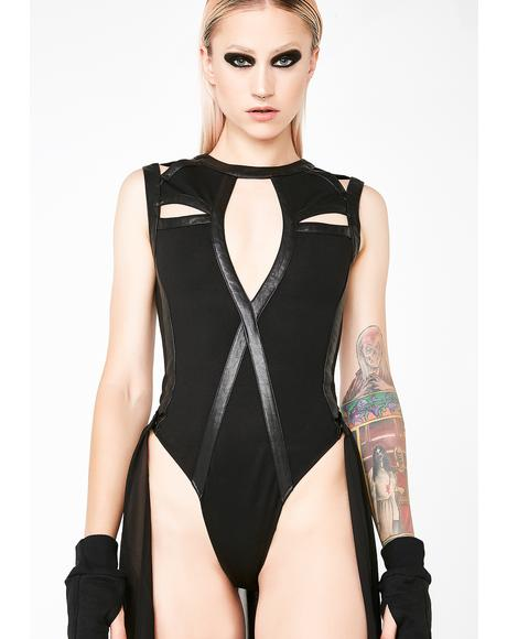 Queen Of The Underworld Bodysuit Train Set