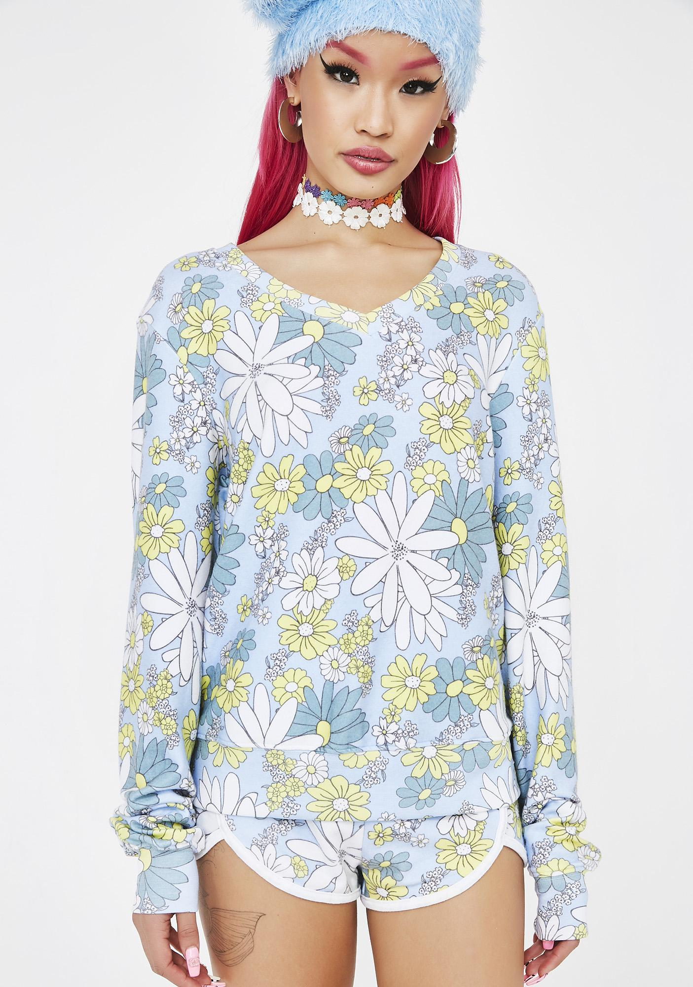 Wildfox Couture Daisy Wallpaper Jumper