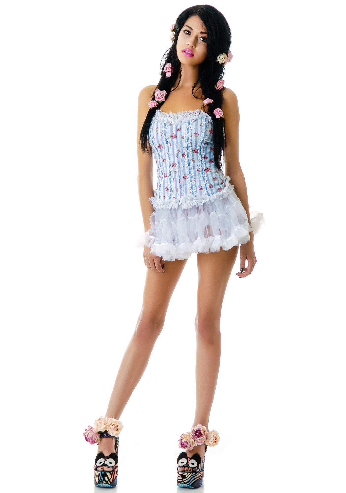 Hell Bunny Rosie Lacey Floral Corset