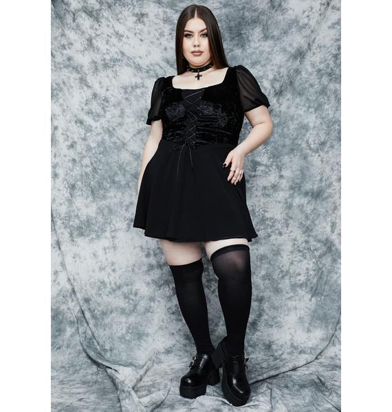 dELiA*s by Dolls Kill Doin' Sorcery N' Stuff Babydoll Dress