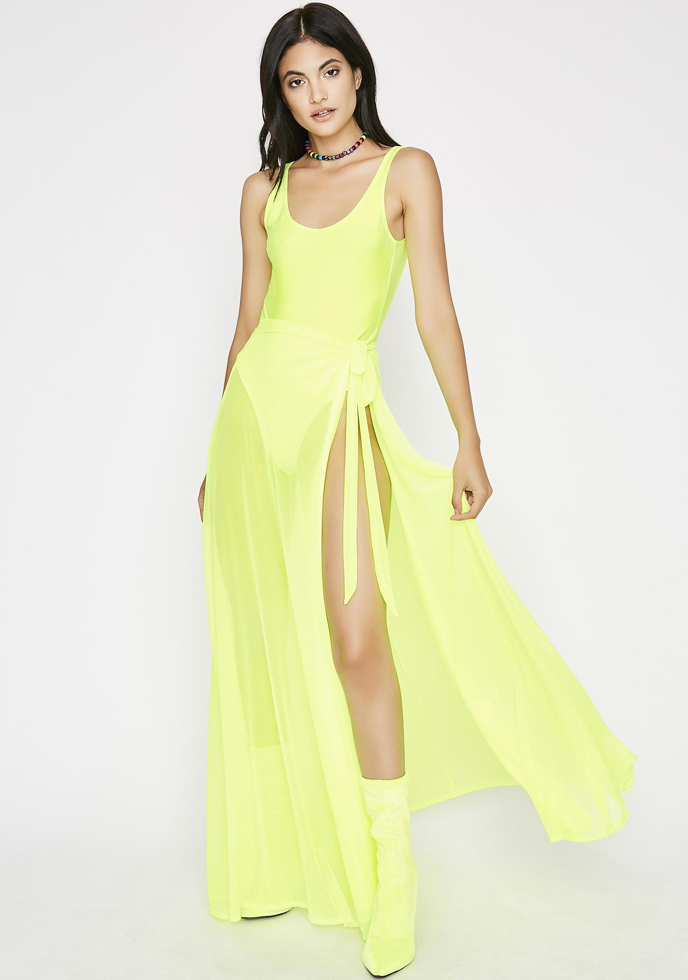 Neon Stick It Tank Bodysuit